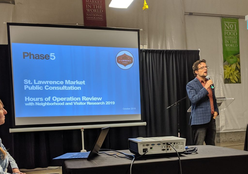 Phase 5 presenting to St. Lawrence Market